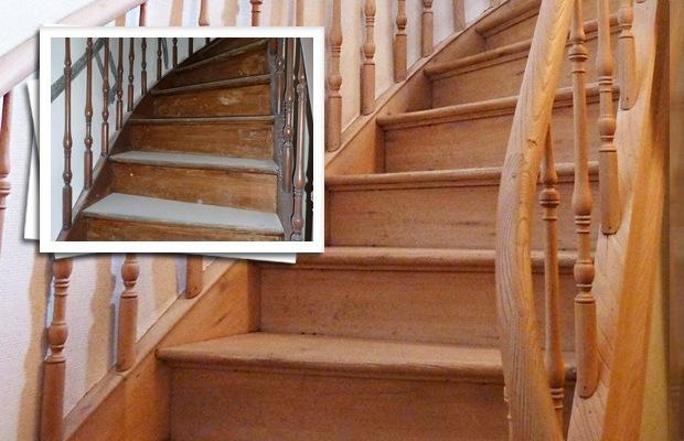 comment d caper un escalier en bois vernis architecture int rieur. Black Bedroom Furniture Sets. Home Design Ideas